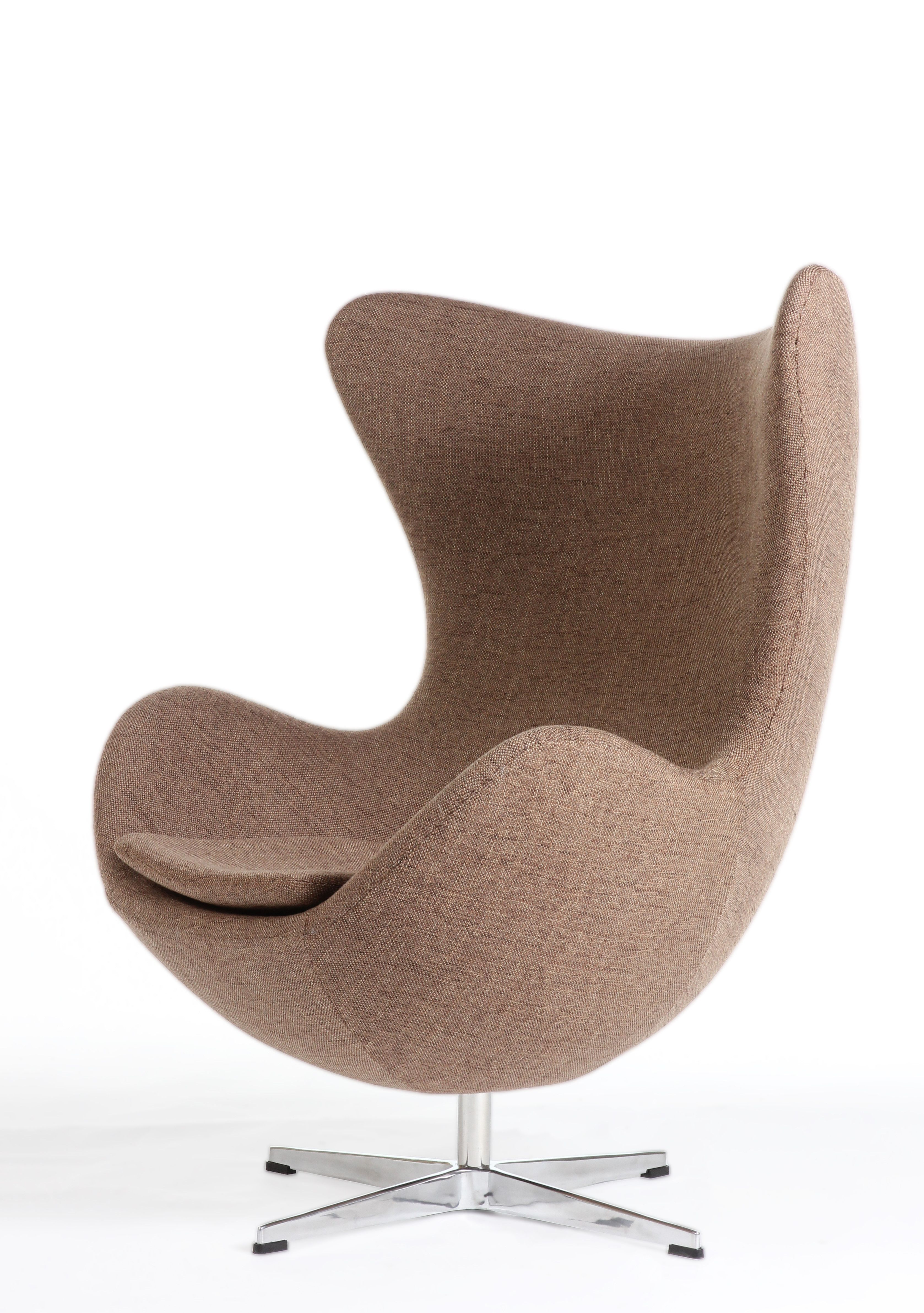 Mid Century Modern Reproduction Egg Chair Brown Inspired By Arne