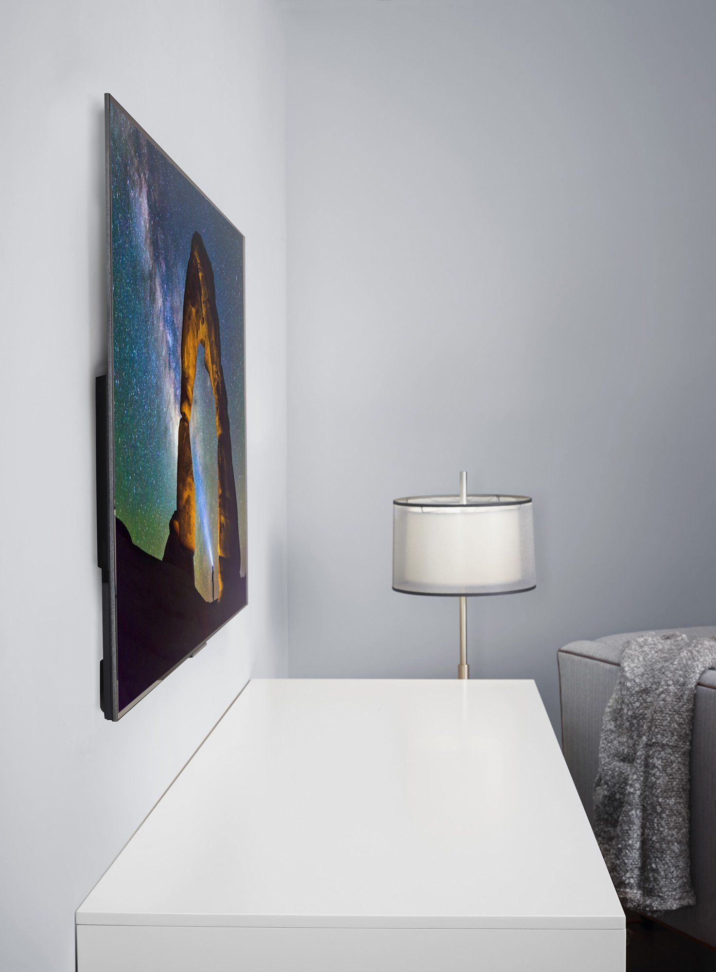 Frameless Tv For Office That Goes Flush With The Wall And Doesn T