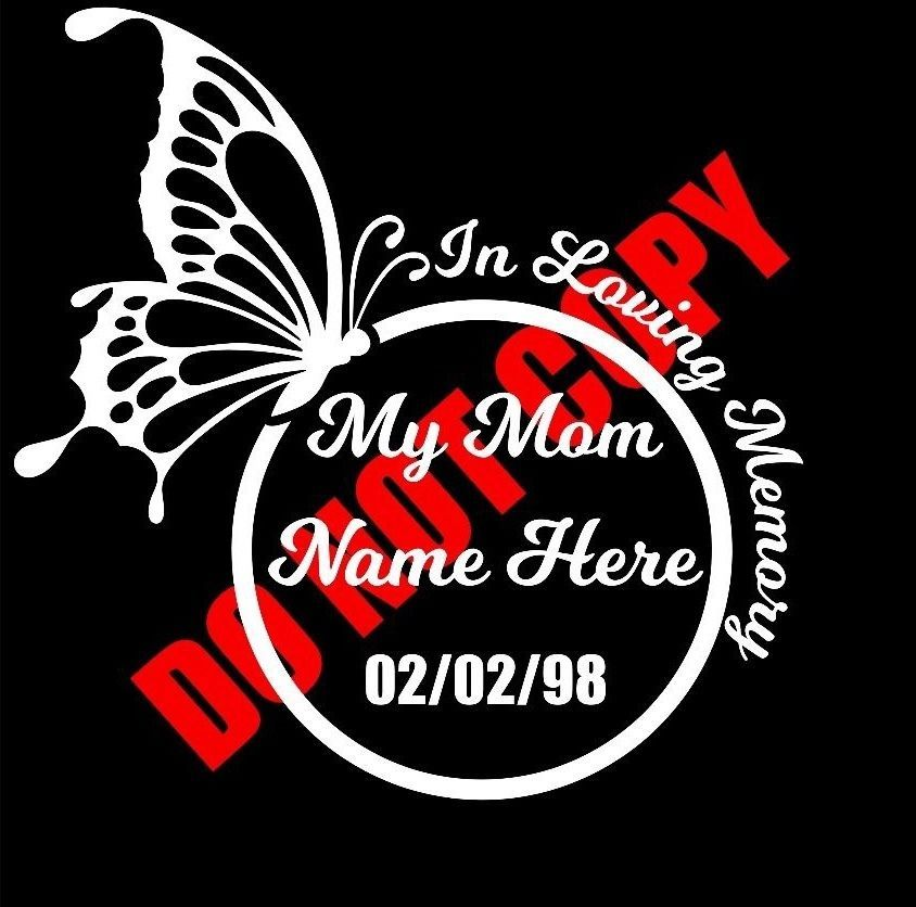 In Loving Memory Vinyl Decal Sticker Custom Car Truck Window Graphic RIP New
