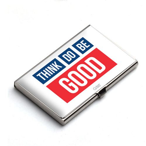 Positive Affirmation Statement When you Think Good You DO Good, When you DO Good you Become Good, When you Read it Every Day you Do it Every day.  Remind yourself to think good, do good, be good with inspirational Card Holder.  Sleek and sophisticated inspiring metal business card holder. Crafted with Love :)   Usage : Keep your Credit cards & business cards in this Beautiful & Inspiring Business card holder / card case which will motivate you everytime you see it. Best for Gifting.