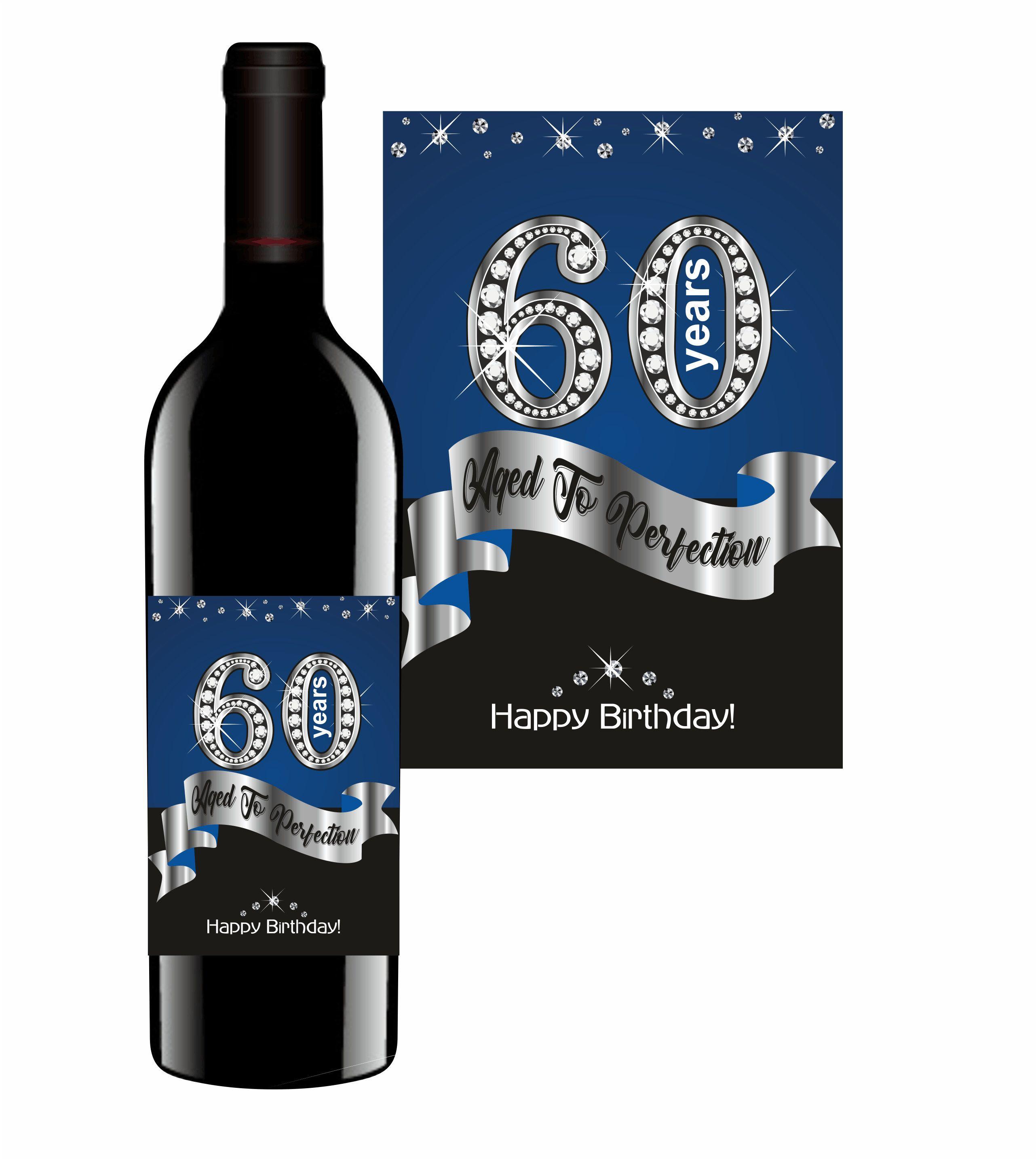 Custom Happy Birthday Wine Label Vintage Bottle Labels First 21st