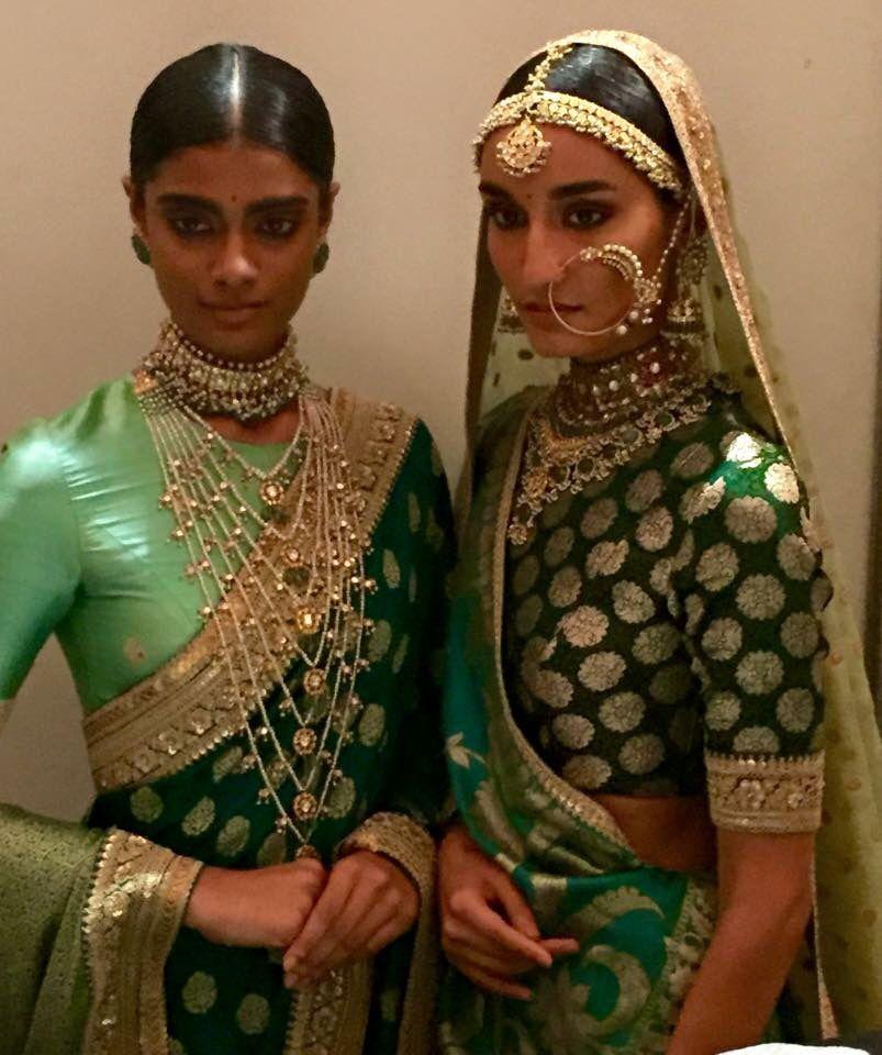 Left: punjabi raani haar from multan city and hyderabadi ... Sabyasachi Bridal Collection 2013