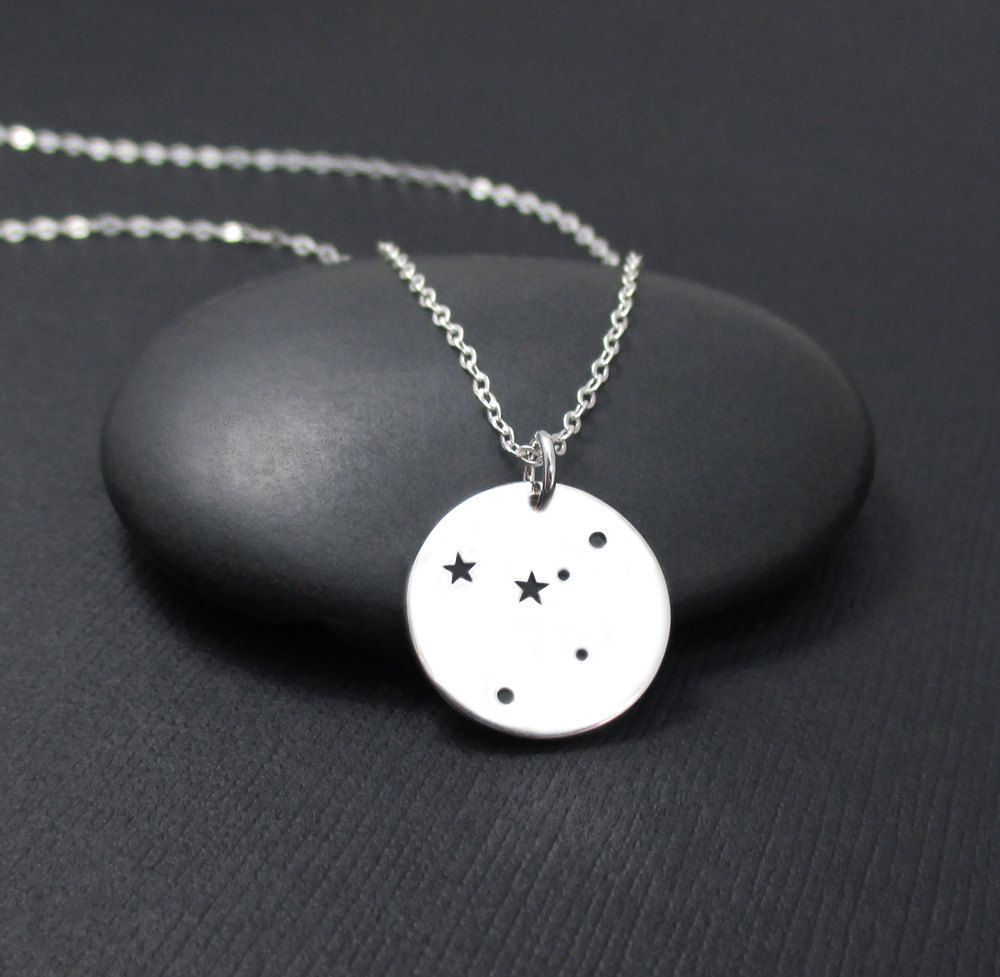 Cancer constellation necklace sterling silver cancer necklace
