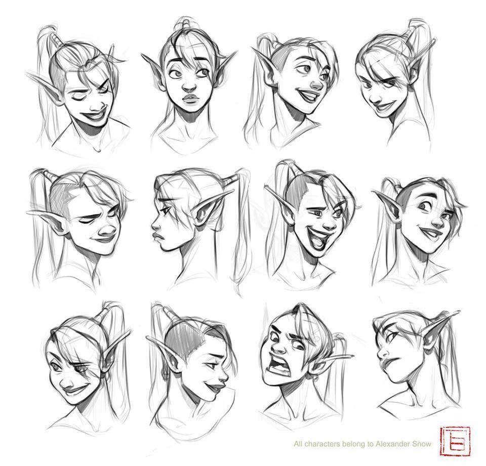 Artstation Expression Sheet Tb Choi Drawing Expressions