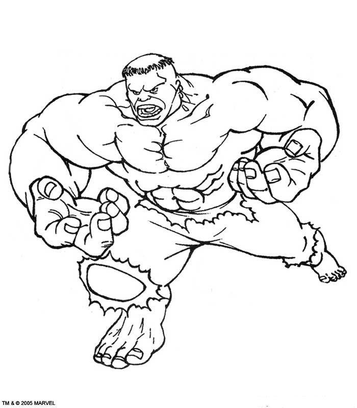 Kleurplaat Hulk Kids N Fun Tekeningen Pinterest Hulk Hulk