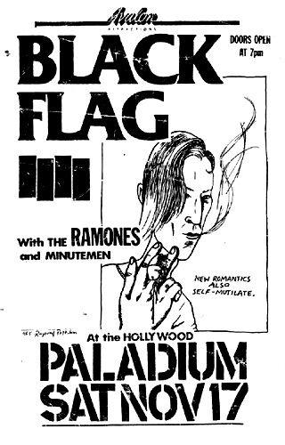 Black Flag, the Ramones punk hardcore flyer