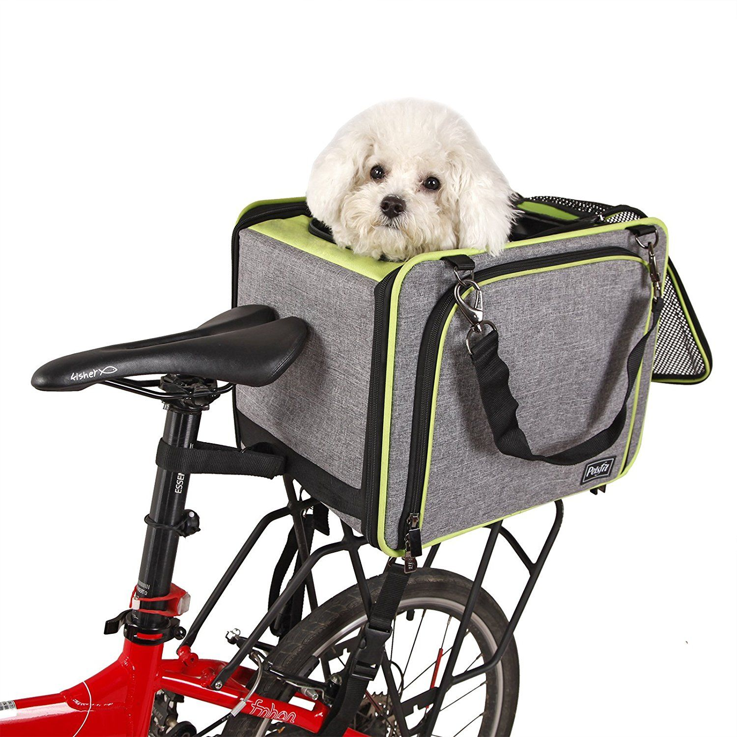 Petsfit Dog Baskets/Pet Carrier for Bicycle with Big Side