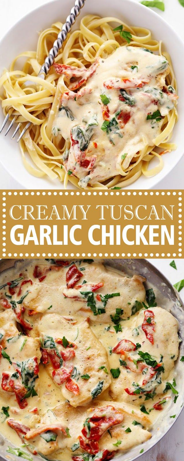 CREAMY TUSCAN GARLIC CHICKEN #creamygarlicchicken