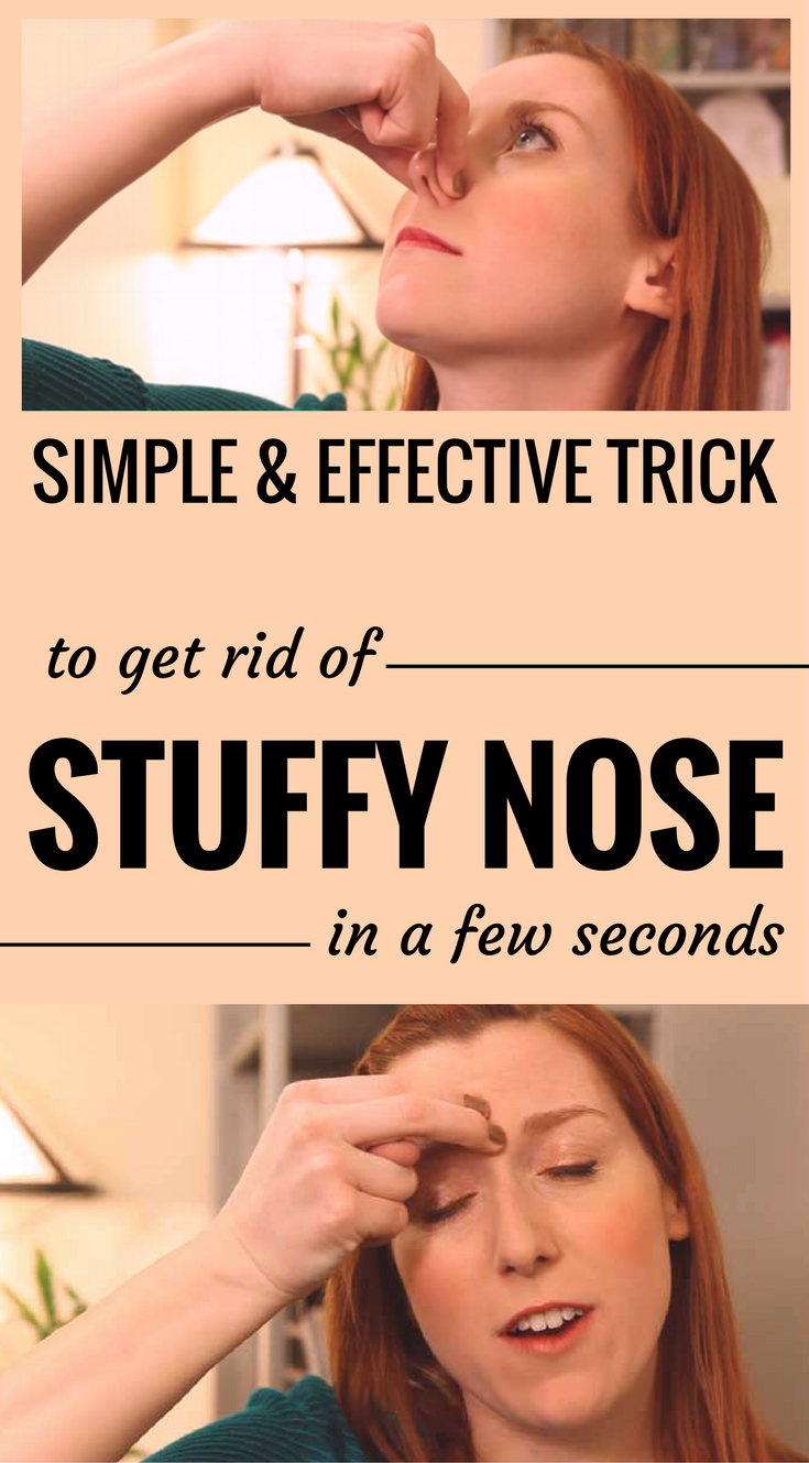 how to get rid of clogged nose at night