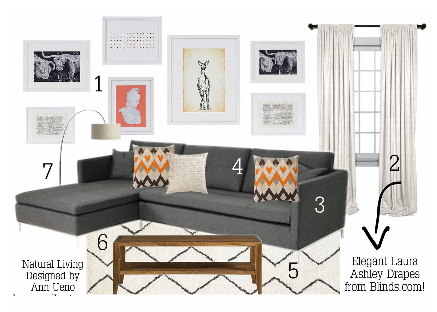 Natural Living Room - Blinds.com Styled By House & Host | Mid ...