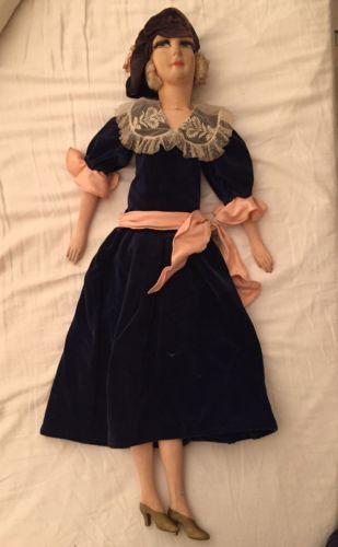 Ancienne-Poupee-De-Salon-Boudoir-Vintage-Doll-80cm