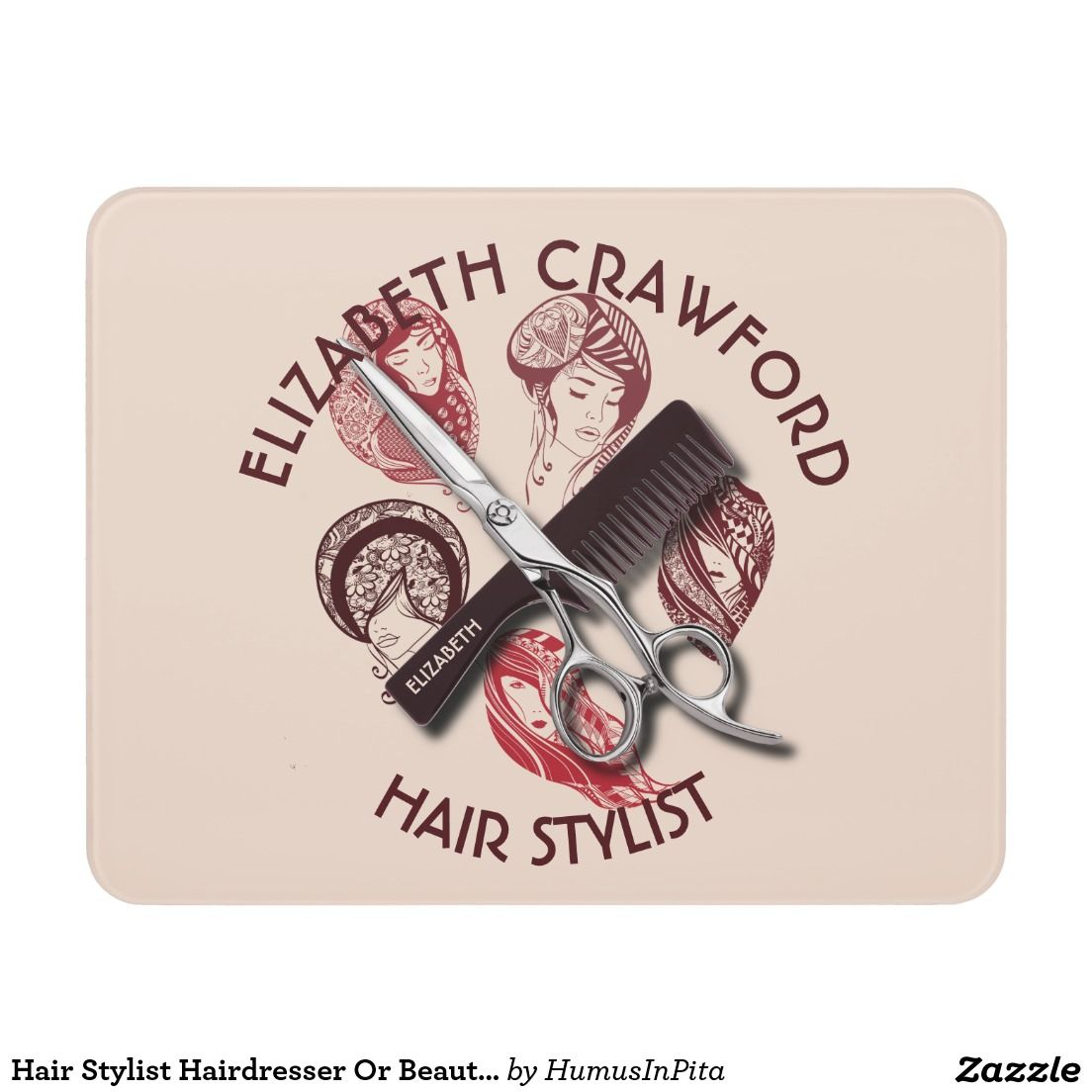 Hair Stylist Hairdresser Or Beauty Salon With Name Door Sign