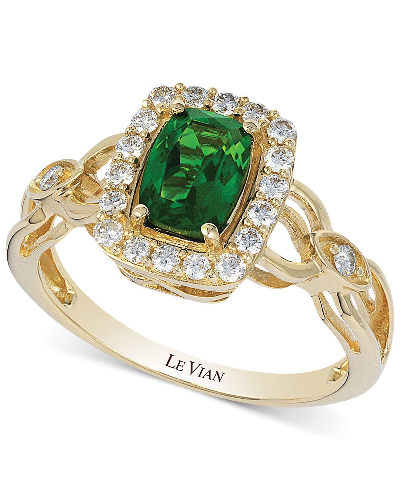 Le Vian Chrome Diopside 3 4 ct t w and Diamond 1 3 ct t w
