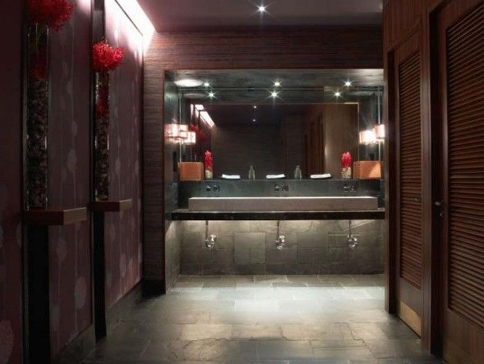 interior design nobu restaurant bathroom door kick - Restaurant Bathroom Design