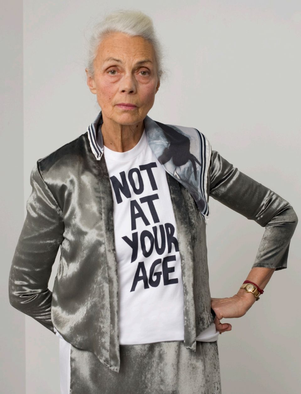 """fashion over 60: monique rozier (over 70) wearing label """"old ladies"""