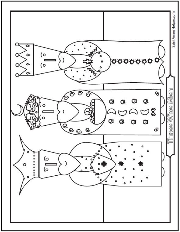Three Kings Coloring Page Wise Men From The Orient With Images