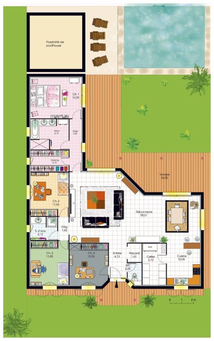 Plan Habillé Rez De Chaussée   Maison   Bungalow De Luxe