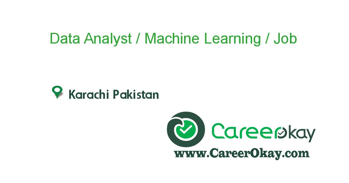 Data Analyst Machine Learning Artificial Intelligence Https Www Careerokay Com Job Job Listings Data Ana Executive Jobs Jobs In Pakistan Job Description