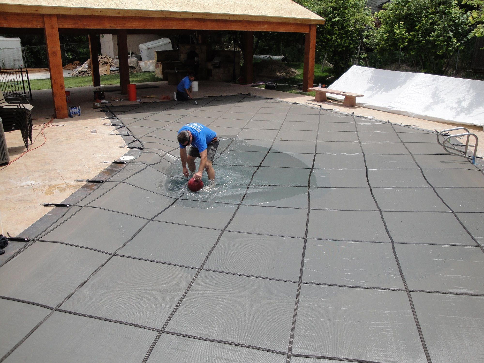 safety pool covers. Anchor Safety Pool Covers - First, It Prevents Most Dirt And Debris From Getting Into The Keeping Cleaner Fo