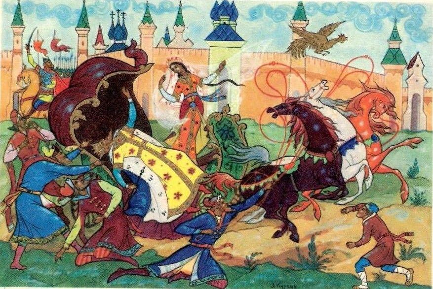 Сказка о золотом петушке   Иллюстрации, Сказки, Художники