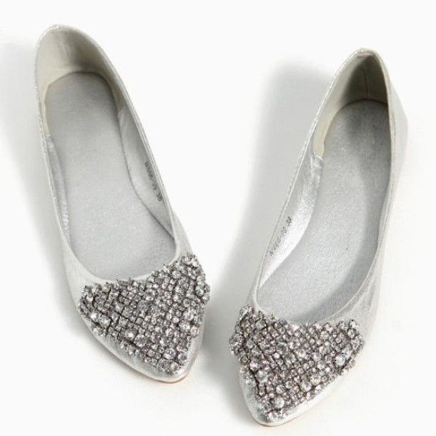 2013 Pointed Toe Black Gold Silver Bridal Flats With Rhinestones Genuine Leather Prom Flat Cry Crystal Wedding Shoes Gold Wedding Shoes Flats Silver Flat Shoes