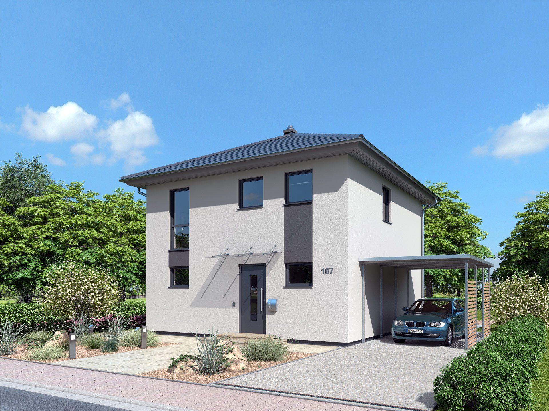 Kompakthaus 107 stadtvilla von ytong bausatzhaus for Fertighaus kubus