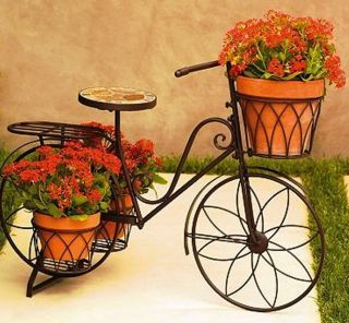Sonoma outdoor bicycle plant stand 5 planter pot holders garden yard sonoma outdoor bicycle plant stand 5 planter pot holders garden yard workwithnaturefo