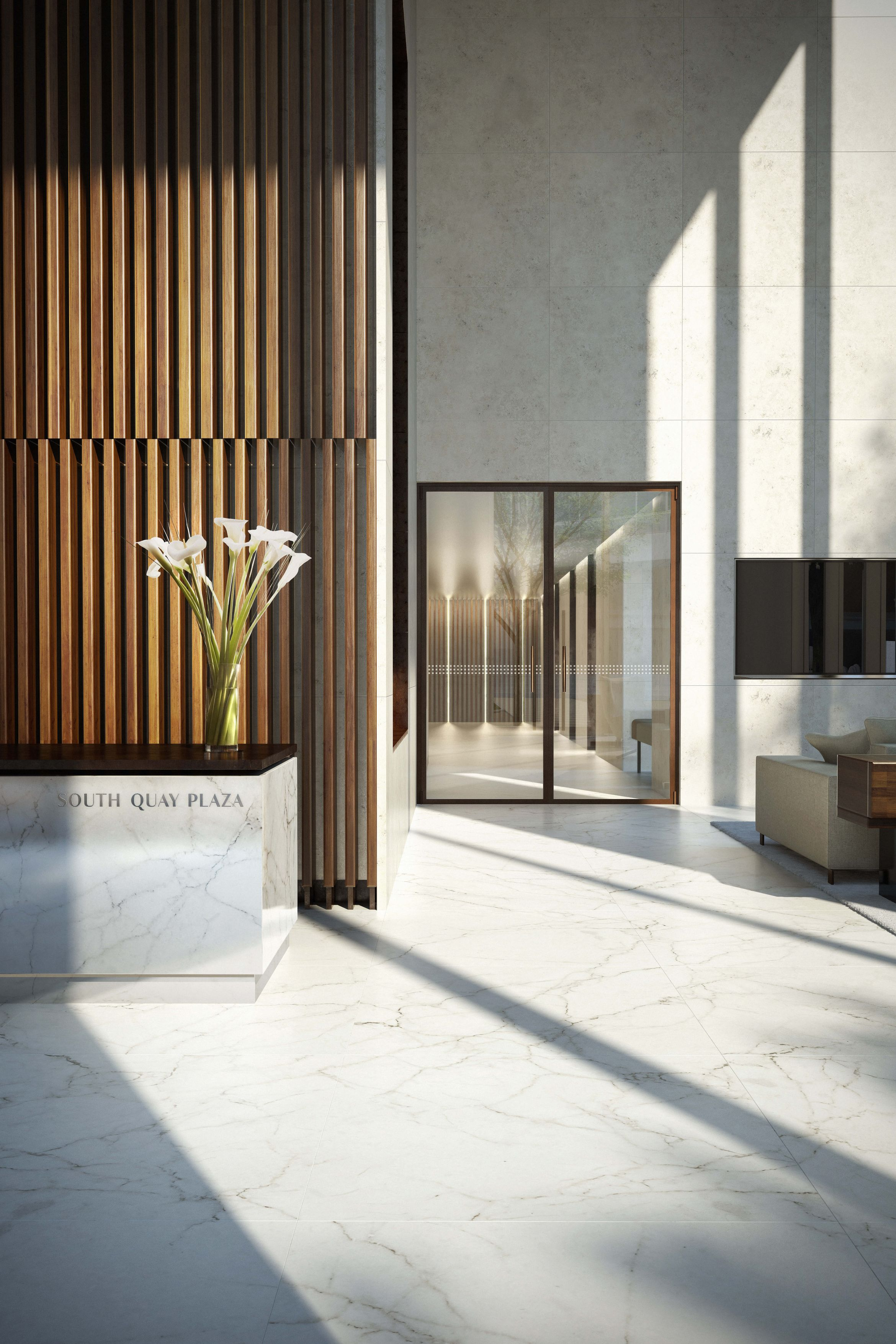 Office Entrance Foyer : Dbox for berkeley group sqp entrance lobby vg