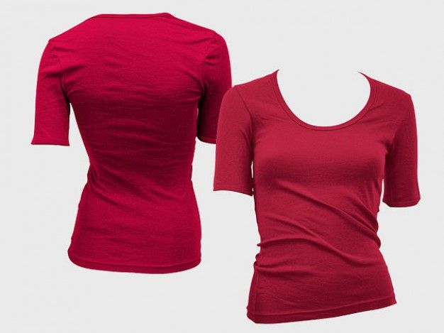 blank-trend-of-female-models--short-sleeved-t-shirt-template - t shirt template