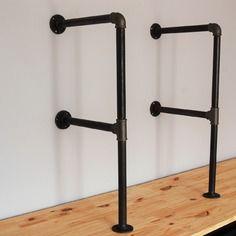 kit montant 30cm biblioth que tag re en tuyaux de. Black Bedroom Furniture Sets. Home Design Ideas