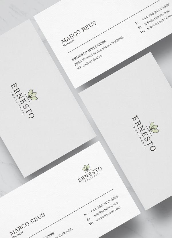Clean Minimalist Business Card Template #businesscard #branding ...