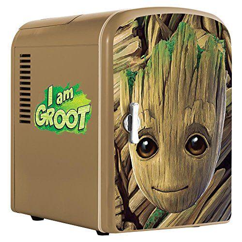 Marvel Guardians Of The Galaxy Vol 2 Mini Fridge Green 4 L Groot Guardians Of The Galaxy Baby Groot
