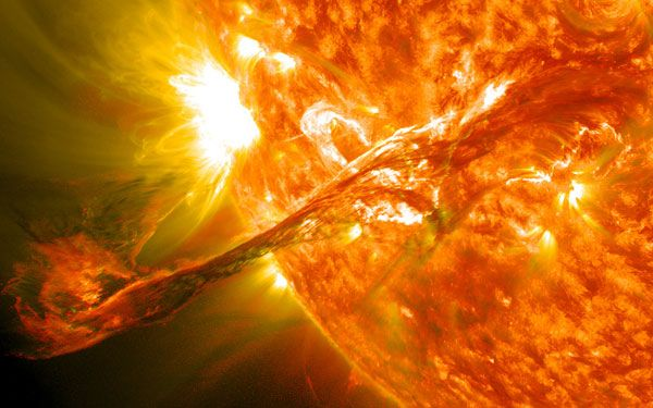 This epic CME occurred on Aug. 31, 2012, shooting out material from the sun into space at more than 900 miles per second.