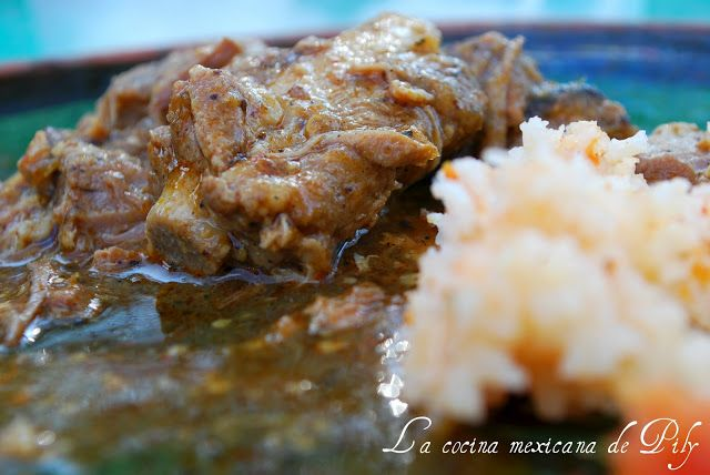 The Mexican cuisine Pily: Meat with Chile