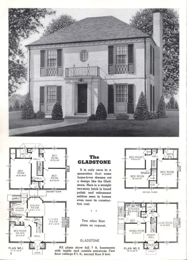 Better homes at lower cost, A-50 | Retro house plans | Pinterest ...
