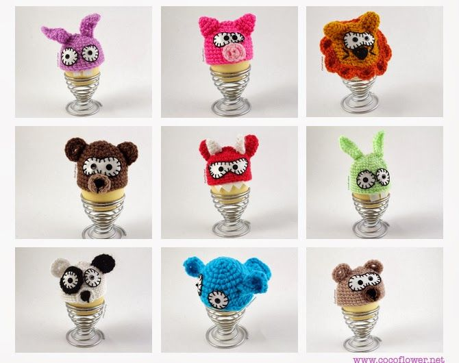 #cozy #egg #wool #amigurumi #cute..by www.cocoflower.net - http://www.etsy.com/shop/cocodollz