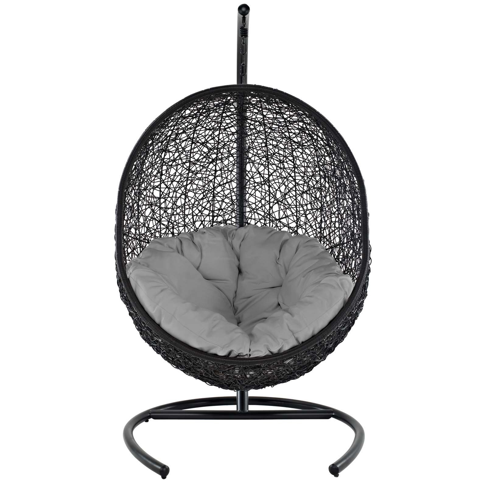 Modway furniture modern encase swing outdoor patio lounge chair