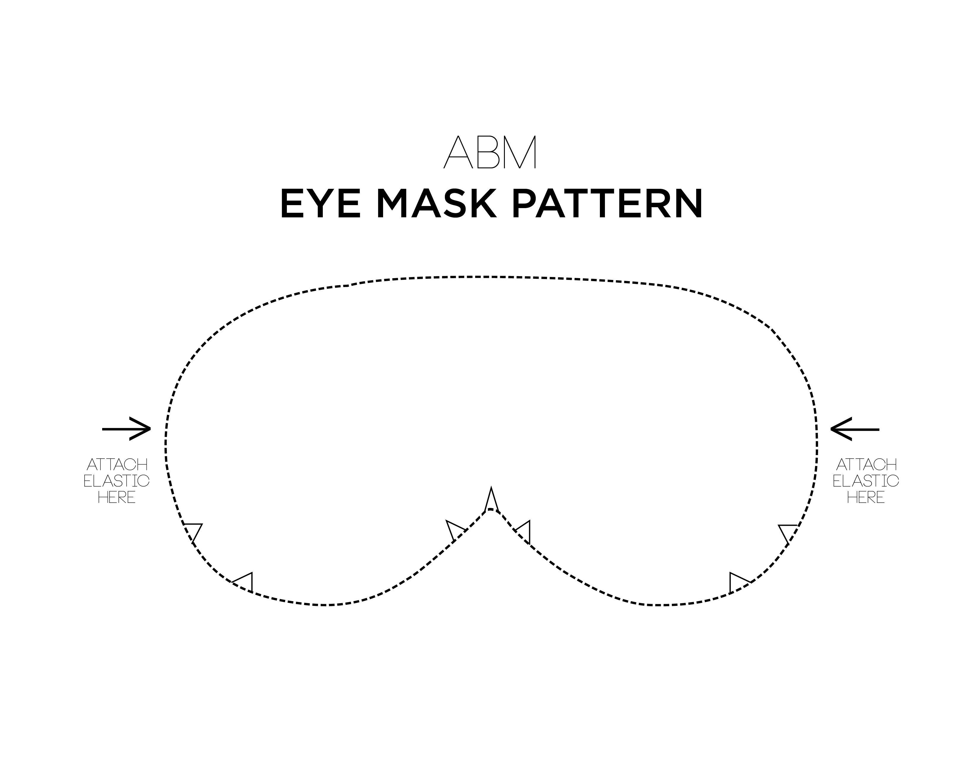 Make Your Own Eye Mask | Sewing | Sewing, Diy eye mask, DIY