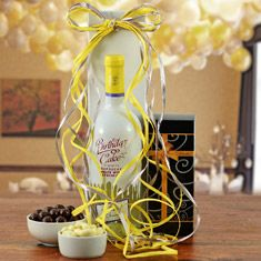 Birthday Cake White Wine Gift Basket Winebasket Com Wine Gift