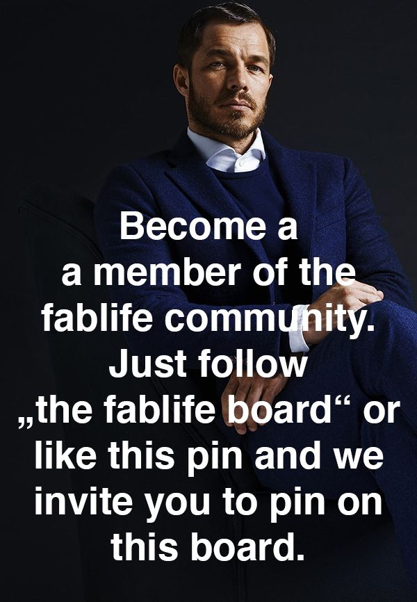 """Join the fablife community and become a contributor to """"the fablife board"""". Just follow this board or like this pin and we invite you to pin on """"the fablife board""""."""