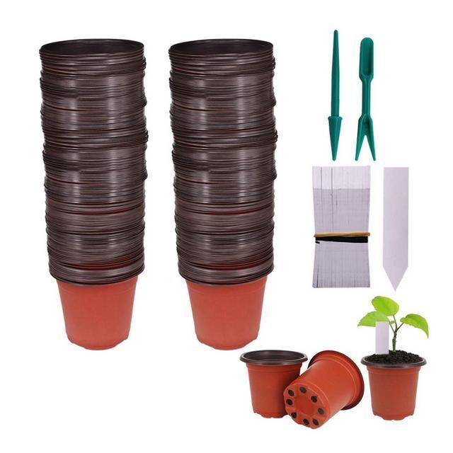 Huvai 100 pz 102 cm plastica vasi di piante piantine ...