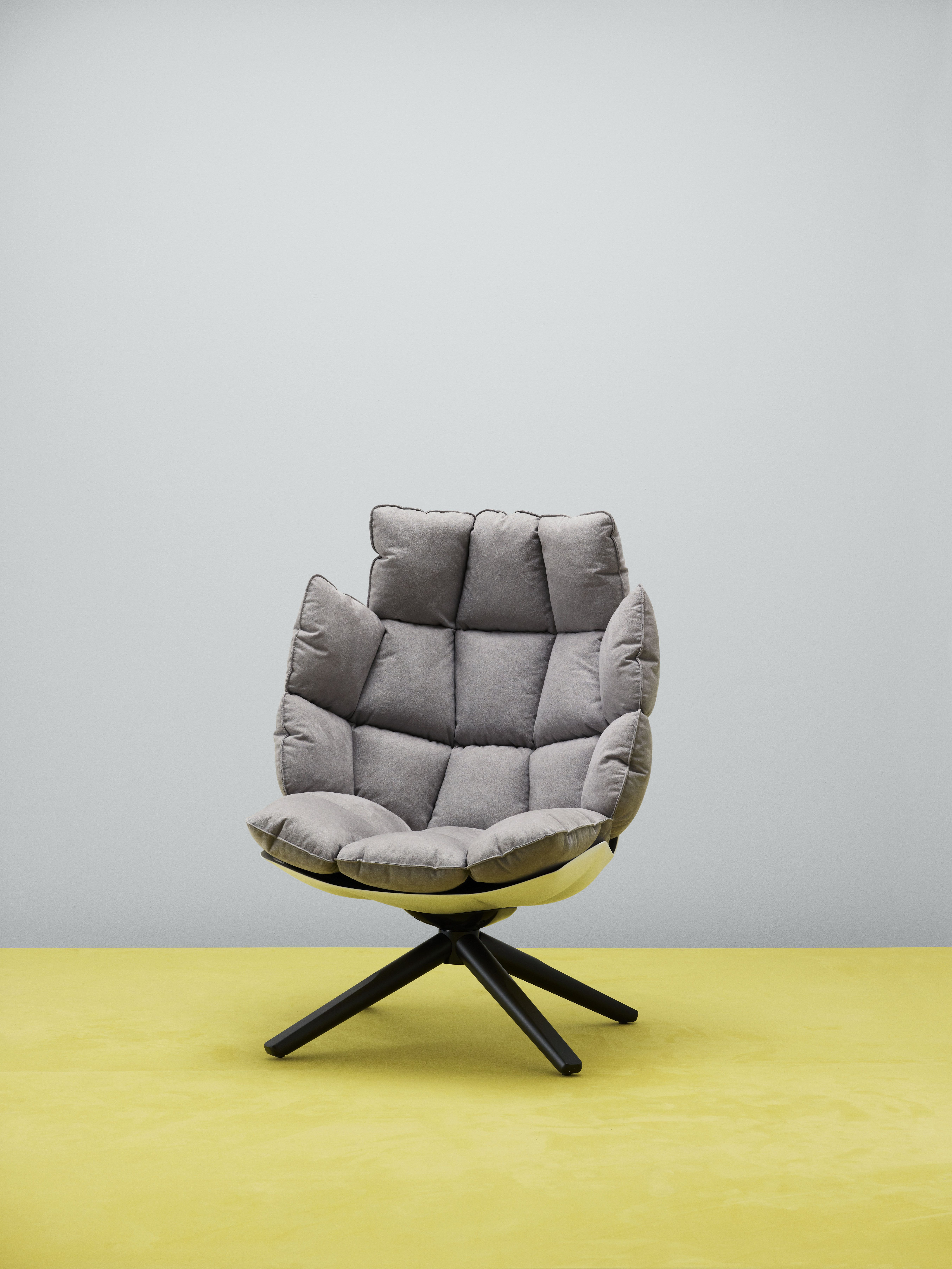 Bb Italia Husk Armchair In Upholstery Textile Waterborn Design By