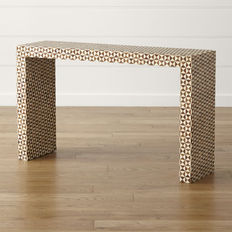 Intarsia Console Table - Crate and Barrel | Console tables, Consoles ...