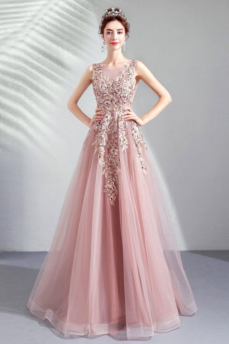 Flower Pink Bride Wedding Gown Dinner Party Annual Dress Dress Pink Evening Dress Evening Dresses Elegant Prom Dresses
