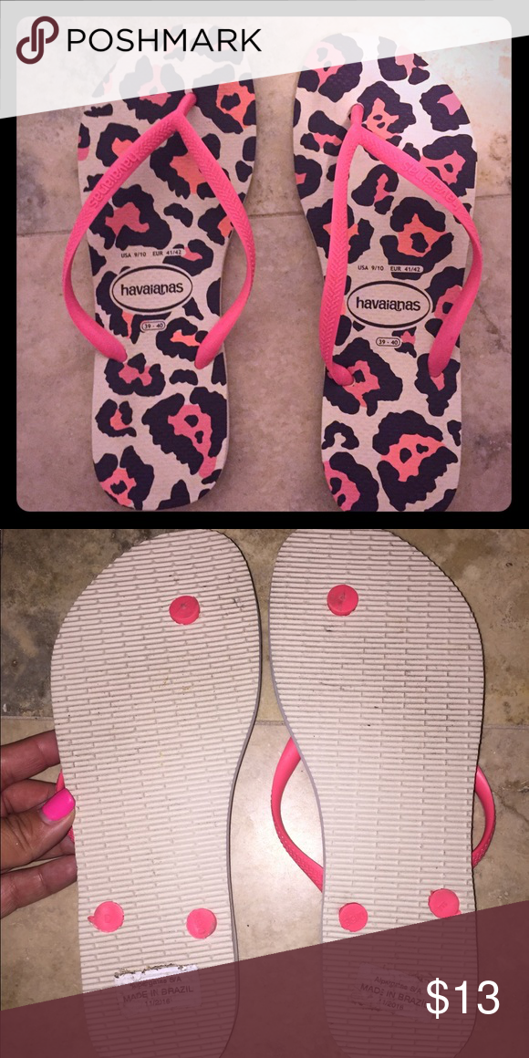 35d70460119cf7 Havaianas size 9 10 Like new Havaiana flip flops. Size 9 10. Wore once for  a couple of hours. Havaianas Shoes Sandals