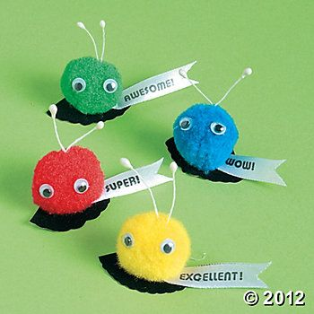 School Pom-Pom Critters - Discontinued #quietcritters