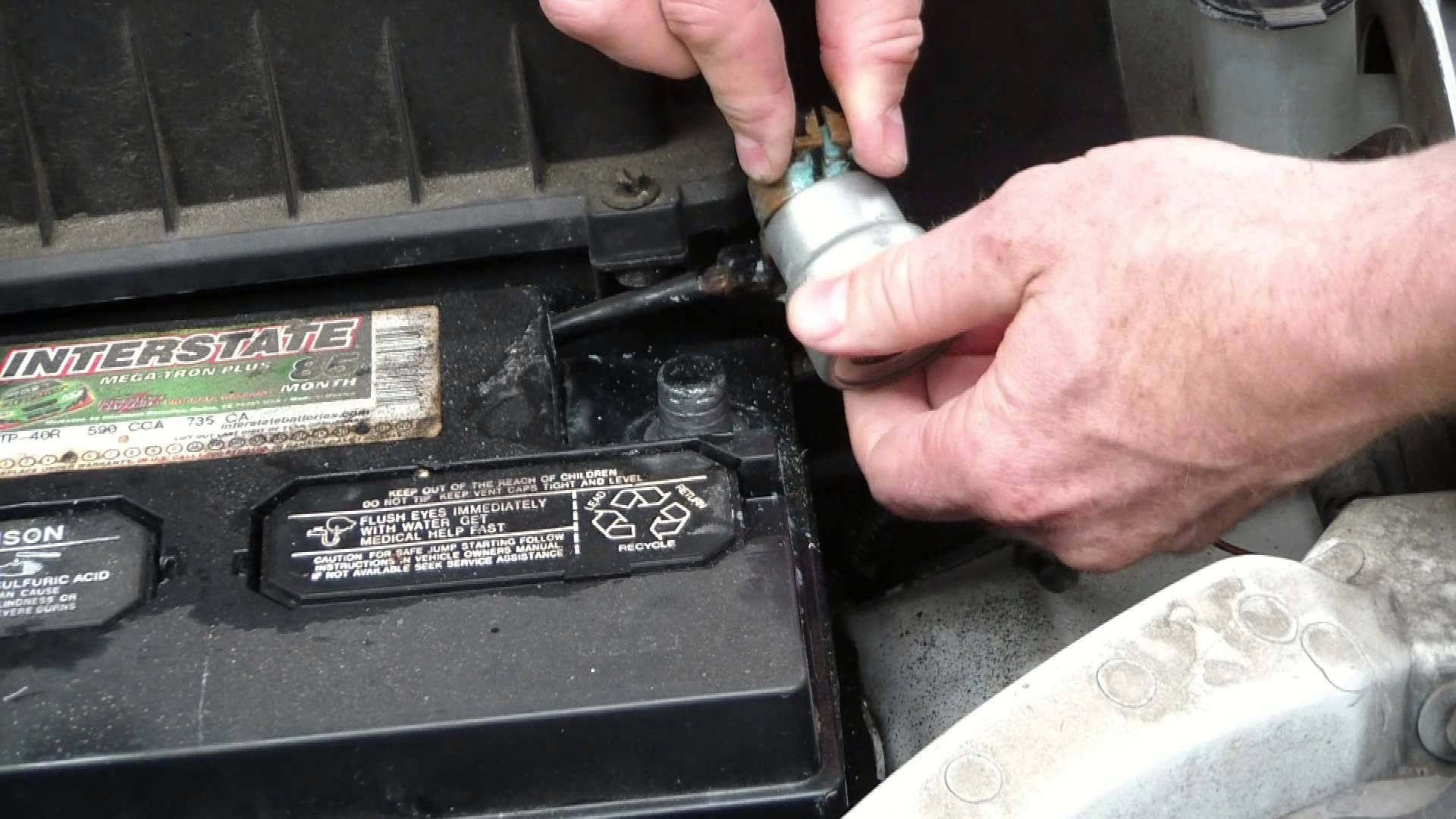 How To Clean Car Battery Terminals Battery Terminal Car Cleaning Car Battery