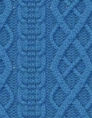 Los patrones para hacer punto | TRENZAS O CABLES | Pinterest ...