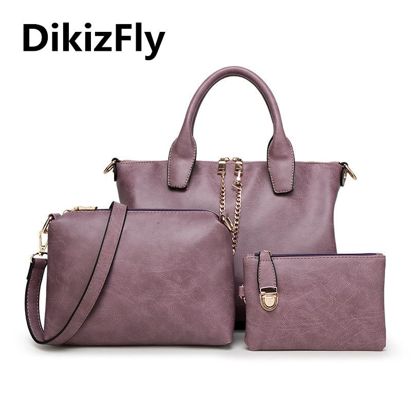 DikizFly! Fashion women totes Composite bag women messenger handbag high  quality PU famous brand Shoulder 94ad044589f4c