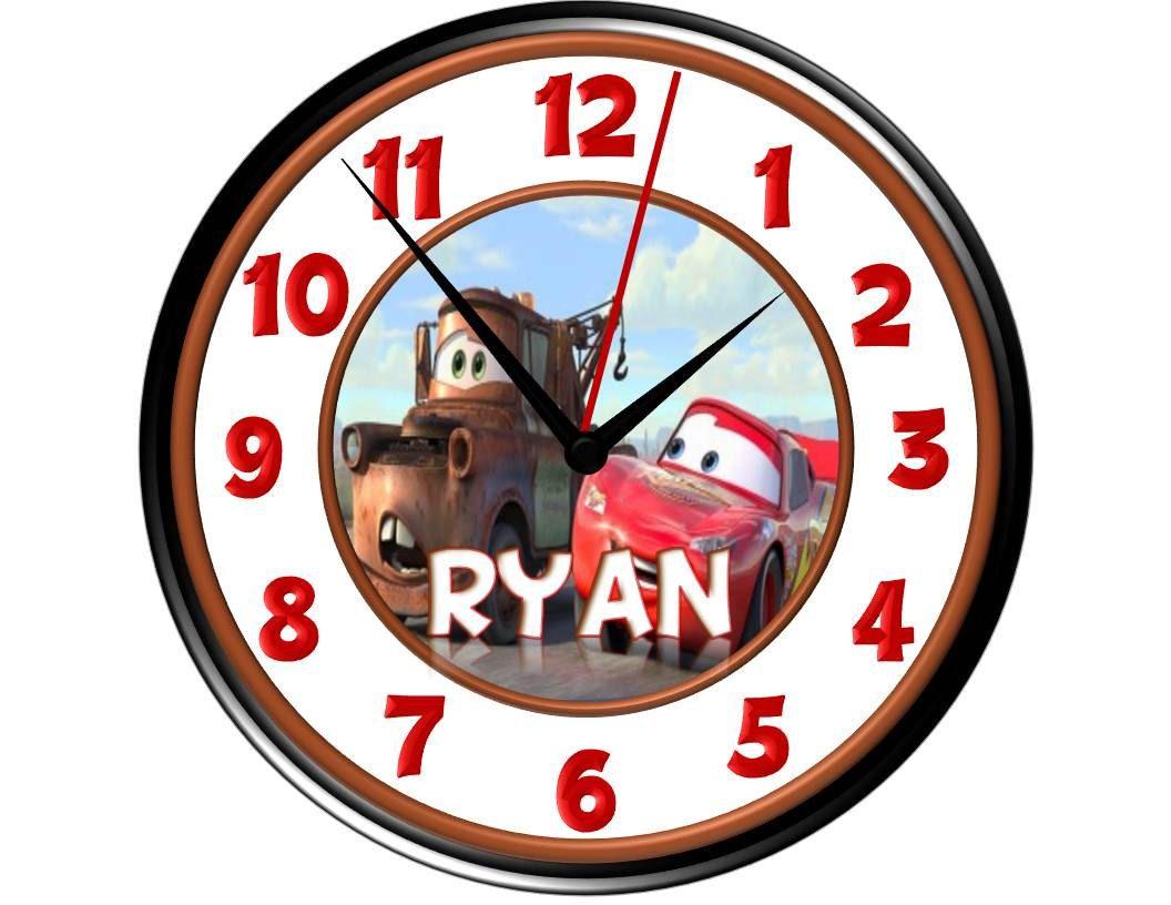 Disney Cars Wall Clock Iii Personalized Lightning Mcqueenmater